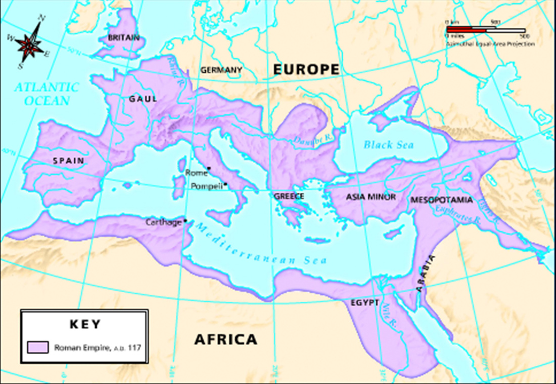 Height Of The Roman Empire Map.Fall Of The Western Roman Empire 7th Grade S S